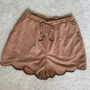 TCEC Suede Shorts